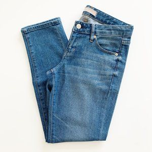 Uniqlo Mid Rise Slim Straight Ankle Jean Blue 28